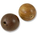 Shishem Wood Beads 26mm Round (2-Pcs)