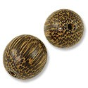 Taad Wood Beads 20mm Round (2-Pcs)