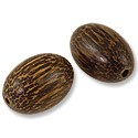 Taad Wood Beads 25x18mm Oval (2-Pcs)