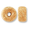 Rondelle Stardust Bead 6mm Rose Gold Filled (1-Pc)