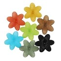 Resin 6 Petal Hippie Flower Beads Assorted Colors 48mm (1 ounce bag)