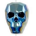 Swarovski 5750 19mm Crystal Metallic Blue 2X Skull Bead (1-Pc)