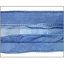 Silky Ribbon Washed Denim Blue
