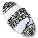 Tibetan Bead Conch Shell 31x27mm Nickel Silver (1-Pc)