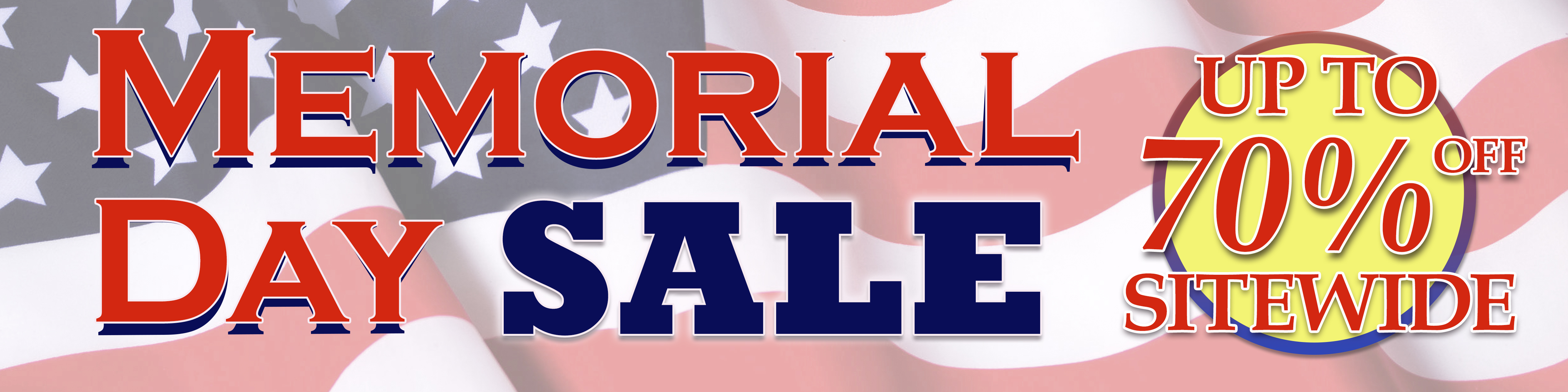 Sitewide Memorial Day Sale up to 70% Off!