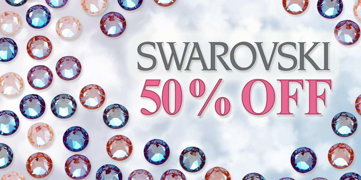 50% Off Sale on Swarovski Crystal Beads, Pendants, Flat Backs & Pearls