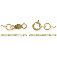 Cable Chain .80mm 14k Yellow Gold 18