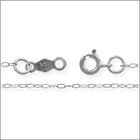 Cable Chain .8mm 14k White Gold 16