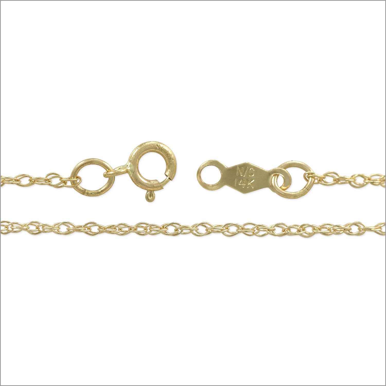 Rope Chain 20 Inch 14k Yellow Gold 14k Rope Chain