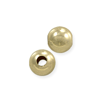 Round Bead 4mm 14k Yellow Gold (1-Pc)