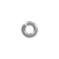 3mm 14k White Gold Round Open Jump Ring (1-Pc)