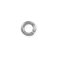 3.5mm 14k White Gold Round Open Jump Ring (1-Pc)
