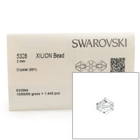 Swarovski 5328 3mm Crystal Bicone Bead (Factory Pack of 1,440)