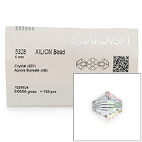 Swarovski 5328 5mm Crystal AB Bicone Bead (Factory Pack of 720)