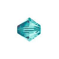 Swarovski 5328 8mm Blue Zircon Bicone Bead (1-Pc)