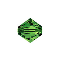 Swarovski 5301 8mm Dark Moss Green Bicone Bead (1-Pc)