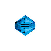 Swarovski 5328 8mm Capri Blue Bicone Bead (1-Pc)