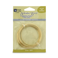 Artistic Wire 16ga Silver Plated Gold Color (10 Feet)