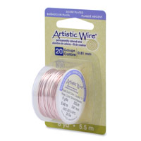 Artistic Wire 20ga Silver Plated Rose Gold (6 Yards)