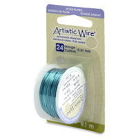 Artistic Wire 24ga Silver Plated Seafoam Green (10 Yards)