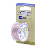 Artistic Wire 26ga Silver Plated Rose Gold (15 Yards)