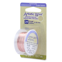 Artistic Wire 28ga Silver Plated Rose Gold (15 Yards)
