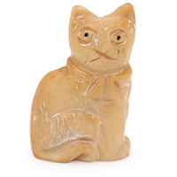 27x17mm Sitting Cat Carved Bead (1-Pc)