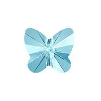 Swarovski Crystal Butterfly Bead 5754 10mm Aquamarine (1-Pc)