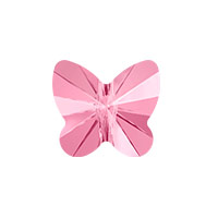 Swarovski Crystal Butterfly Bead 5754 10mm Light Rose (1-Pc)