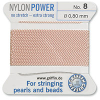 #8 Pink Griffin Nylon Bead Cord (2 Meters)