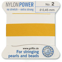 #2 Amber Griffin Nylon Bead Cord (2 Meters)