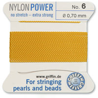 #6 Amber Griffin Nylon Bead Cord (2 Meters)