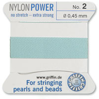 #2 Turquoise Griffin Nylon Bead Cord (2 Meters)