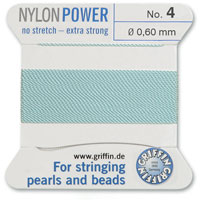 #4 Turquoise Griffin Nylon Bead Cord (2 Meters)