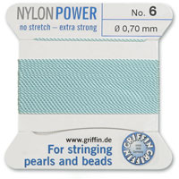 #6 Turquoise Griffin Nylon Bead Cord (2 Meters)