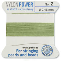 #2 Jade Griffin Nylon Bead Cord (2 Meters)