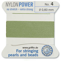 #4 Jade Griffin Nylon Bead Cord (2 Meters)
