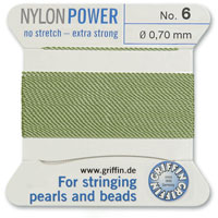 #6 Jade Griffin Nylon Bead Cord (2 Meters)