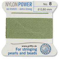 #8 Jade Griffin Nylon Bead Cord (2 Meters)