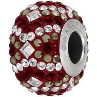 Swarovski Crystal BeCharmed Pave Christmas Bead 82053 14mm Siam Bead (1-Pc)