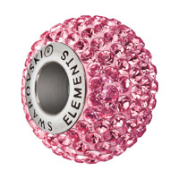 Swarovski Crystal BeCharmed Pavé Large Hole Bead 14mm Rose (1-Pc)