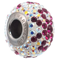 Swarovski BeCharmed Pave Bow Bead 14mm Ruby Crystal AB (1-Pc)
