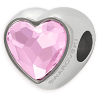 Swarovski Crystal BeCharmed 81951 14mm Rosaline Heart Bead (1-Pc)