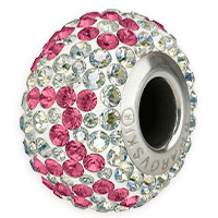 Swarovski Crystal 81902 You & Me Pavé BeCharmed Bead 14.5mm Rose (1-Pc)