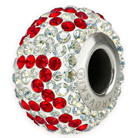 Swarovski Crystal 81902 You & Me Pavé BeCharmed Bead 14.5mm Light Siam (1-Pc)