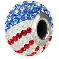 Swarovski Crystal BeCharmed Flag Beads