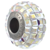 Swarovski 80201 BeCharmed Pavé Square Bead 15mm Crystal AB (1-Pc)