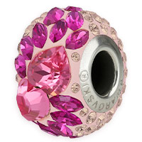Swarovski Crystal 81883 Flying Heart Pavé BeCharmed Bead 15mm Rose (1-Pc)