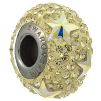 Swarovski Crystal BeCharmed Pave Star Bead 81712 15mm Jonquil (1-Pc)