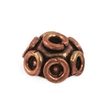 Designer Copper Bead Cap 9x4mm (1-Pc)